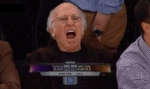 Larry David is Not Entertained by the Knicks (GIF)