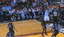 LeBron James Soars for the Spectacular One-Handed Alley-Oop (Video)