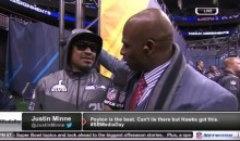 Marshawn Lynch's SB Media Day Interview With Deion Sanders was Interesting (Video)