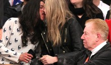 Actress Michelle Rodriguez and Model Cara Delevingne Were Sloppy Drunk and Making Out at the Knicks Game (Photos)