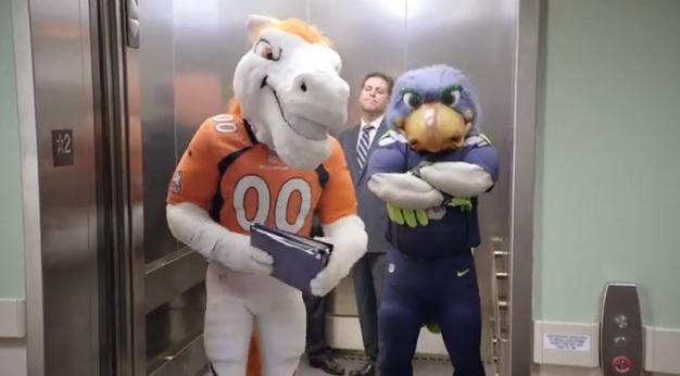 SportsCenter Super Bowl mascot commercial