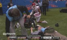 Sugar Bowl Camerman Gets Leveled During Game (GIF)