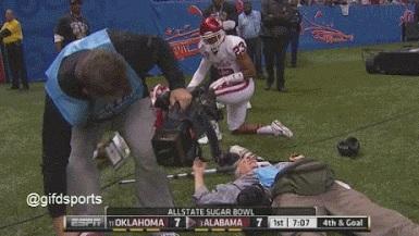 Sugar Bowl Cameraman Hit