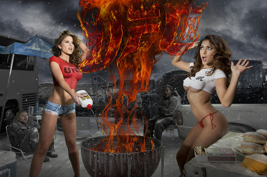 UFC 169 Arianny Celeste Brittney Palmer Body Paint