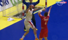 Let's All Marvel at this Amazing Handball Goal (Video + GIF)