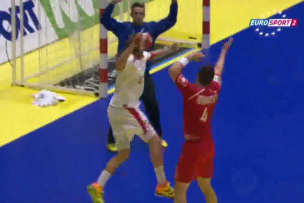 amazing handball goal