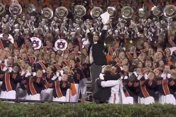 auburn band reacts to iron bowl win