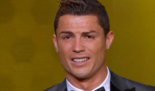 Cristiano Ronaldo Cries Like a Baby as He Accepts FIFA's Ballon d'Or Award (Video)