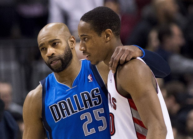 DeMar DeRozan and Vince Carter