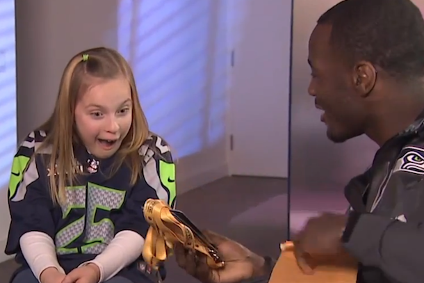 derrick coleman surprises fans with super bowl tickets
