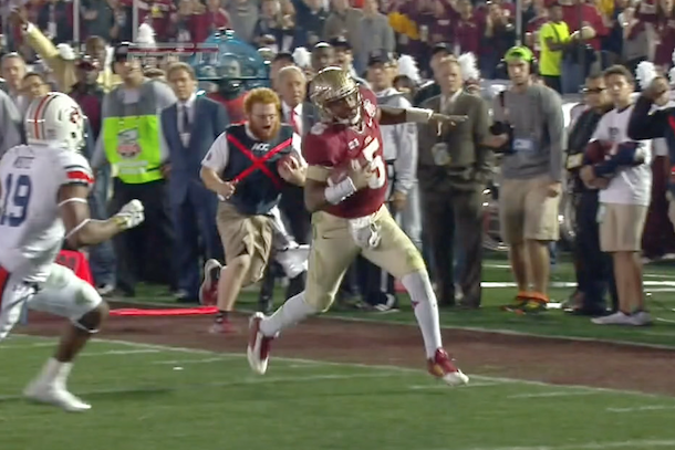 of course fsu ball boy red lightning was at the bcs national