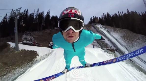 gopro ski jumping