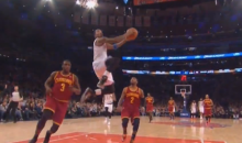 J.R. Smith Put on a Dunking and Dribbling Clinic Against the Cavs Last Night (Videos)
