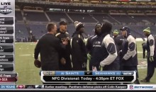 Jimmy Graham and the Seahawks Mix It Up Prior to NFC Divisional Playoff Game (Video)