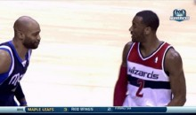 Vince Carter Will Not Be Intimidated by John Wall (GIF)