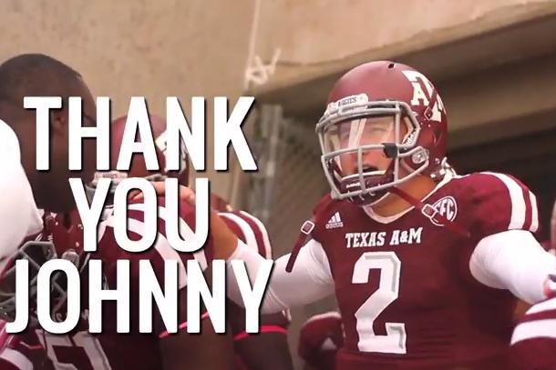 johnny manziel a&m tribute video