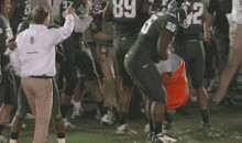 Mark Dantonio Dodges the Traditional Gatorade Shower After Michigan State's Rose Bowl Win (GIF)