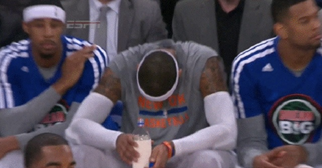 melo disappointed