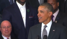 Watch President Obama Totally Burn Mario Chalmers at White House Meeting (Video)