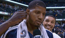Paul George Scores 31 Points, Gets Wet Willy from His Teammates (GIF)