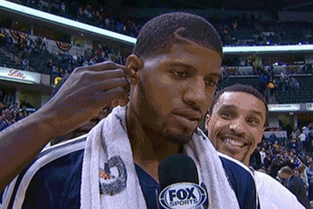 paul george gets wet willy