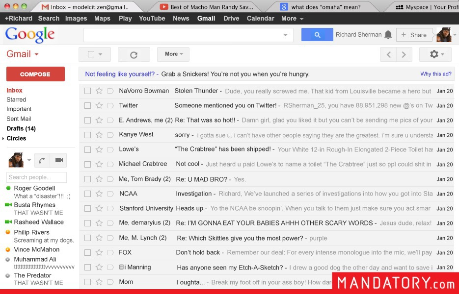 richard sherman gmail inbox