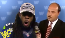 Here's Richard Sherman Being Interviewed by WWE Legend 'Mean' Gene Okerlund (Video)