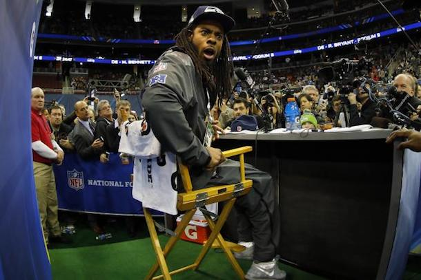 richard sherman super bowl media day