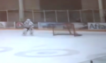 College Hockey Goalie Allows Game-Winning Goal Because He Was Busy Talking to Some Fans (Video)