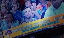 Wes Welker Gets Photobombed at Knicks Game