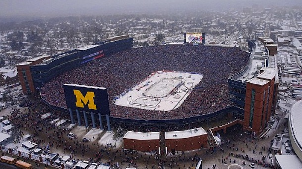 winter classic aerial view