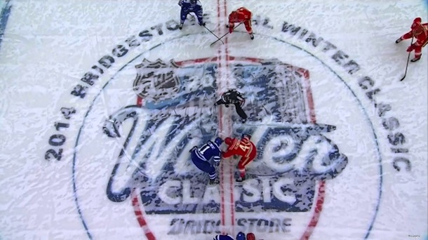winter classic opening faceoff