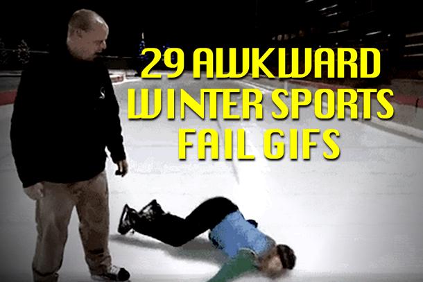 29 Awkward Winter Sports Fail GIFs | Total Pro Sports