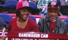 "Washington Wizards Mock Fans Wearing Miami Heat Gear by Putting them on the ""Bandwagon Cam"" (Pics)"