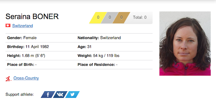 1 seraina boner - funniest names 2014 winter olympics sochi