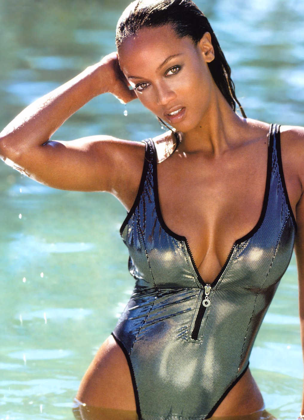 10 tyra banks (chris webber) - sports illustrated swimsuit models who dated athletes