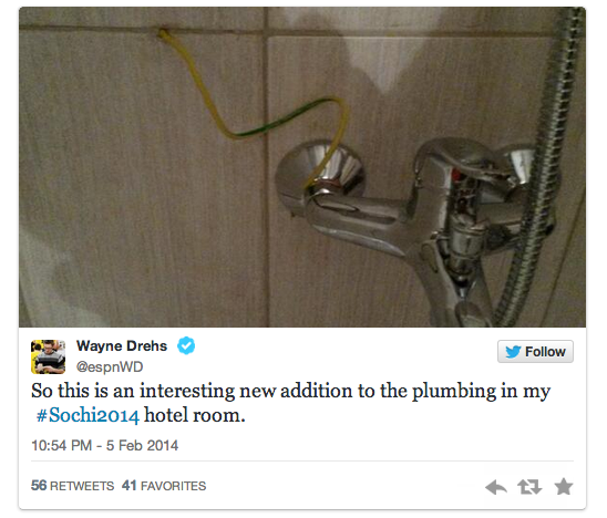 15 wires in shower - sochiproblems