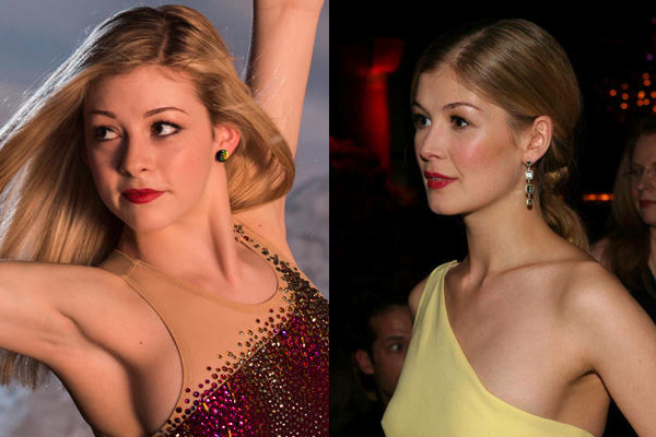 16 gracie gold and rosamund pike - sochi 2014 winter olympics athlete celebrity doppelgangers look-alikes