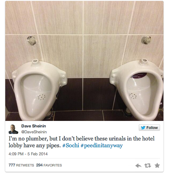 16 urinals with no pipes - sochiproblems