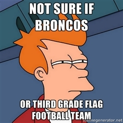 17 flag football team - broncos super bowl commercials