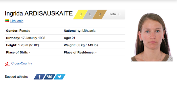 18 ingrida ardisauskaite - funniest names 2014 winter olympics sochi