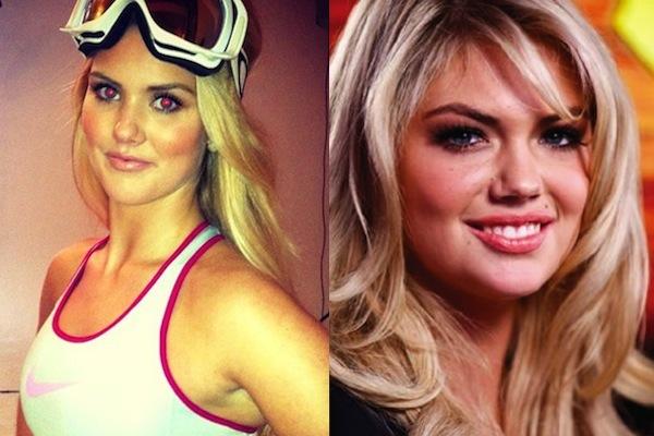 2 silje norendal and kate upton - sochi 2014 winter olympics athlete celebrity doppelgangers look-alikes
