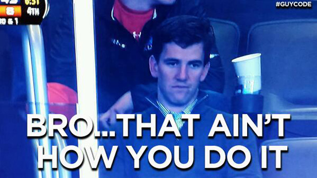 23 that aint how you do it eli manning - broncos super bowl memes