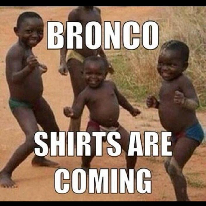 25 bronco shirts are coming - broncos super bowl commercials