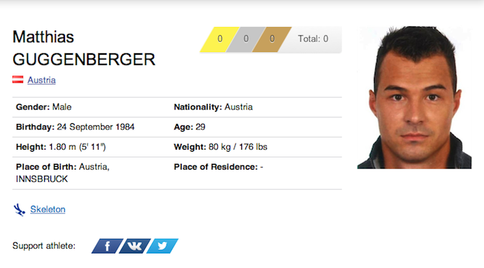 26 matthias guggenberger - funniest names 2014 winter olympics sochi