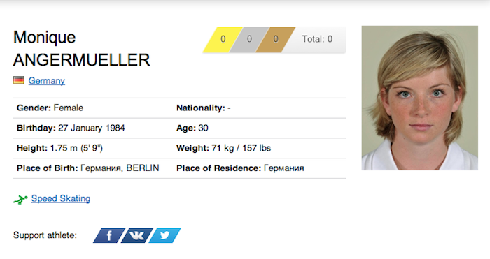 28 monique angermueller - funniest names 2014 winter olympics sochi