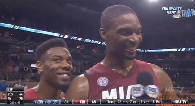 29 norris cole photobombs bosh