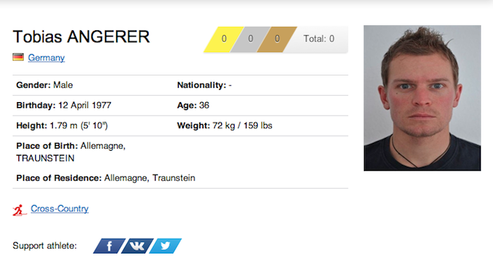 29 tobias angerer - funniest names 2014 winter olympics sochi