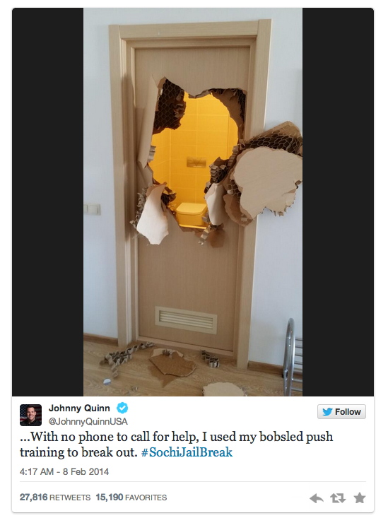 3 johnny quinn bathroom break tweet - sochiproblems