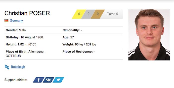 38 christian poser - funniest names 2014 winter olympics sochi